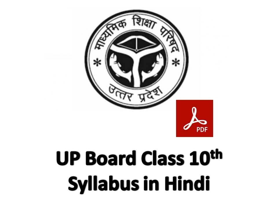 UP Board Class 10th Syllabus 2020 - 21 in Hindi Download in Pdf
