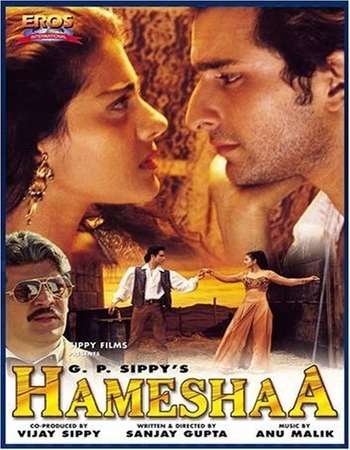 Poster Of Hameshaa 1997 Hindi 400MB DVDRip 480p Free Download Watch Online