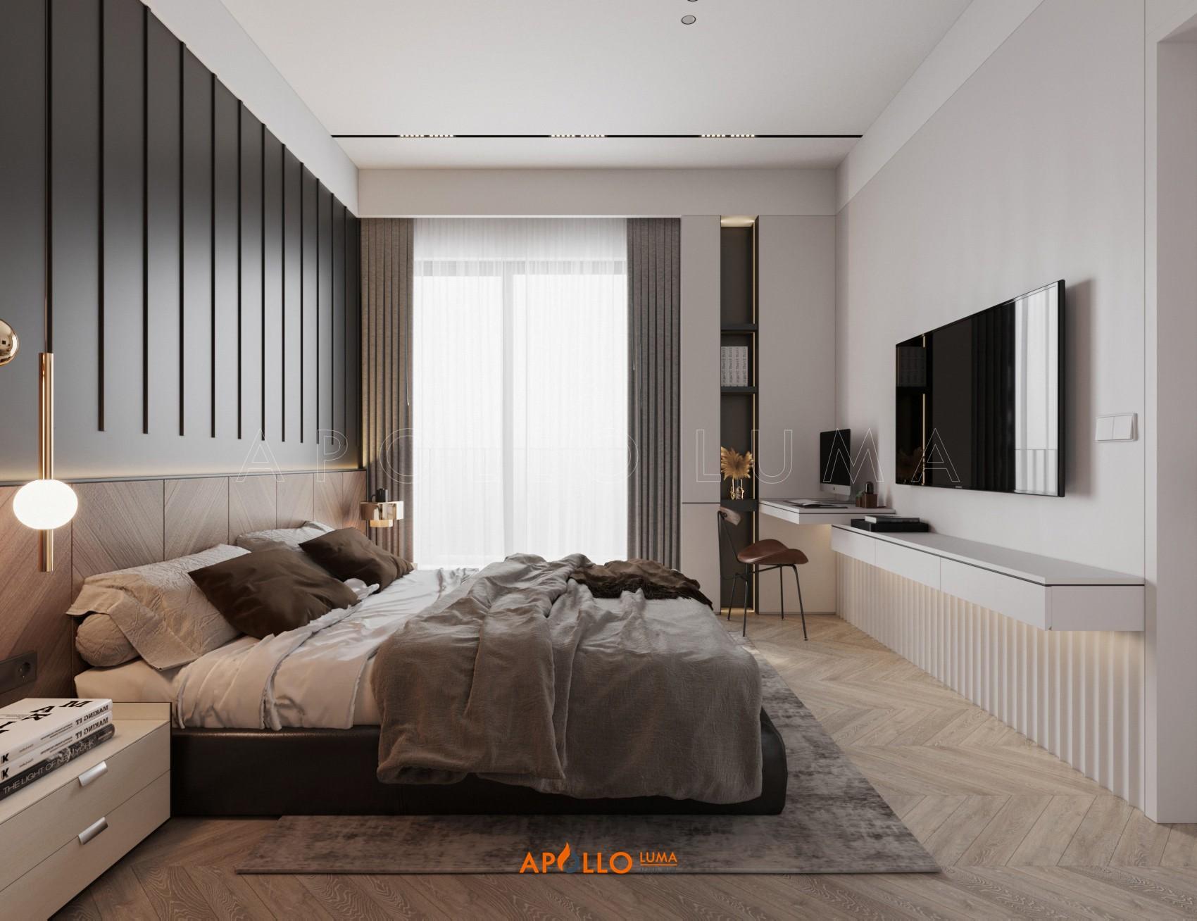 Thiết kế nội thất căn hộ 3 phòng ngủ (Dual Key) The Matrix One Mễ Trì