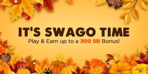 Image: The digital rewards site Swagbucks is celebrating November with another big Swago promotion starting Monday, 6 November at 9am PT!