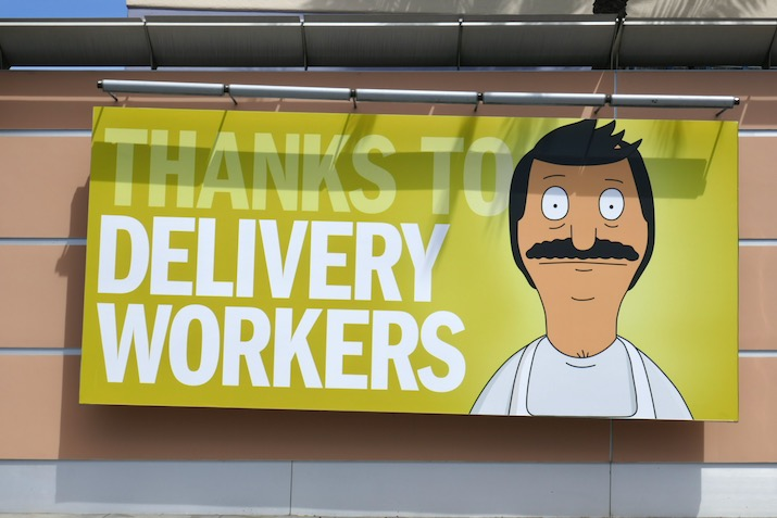Thanks to Delivery Workers Bobs Burgers billboard