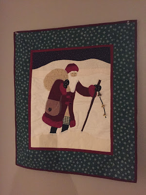 #millsnewhouse, Christmas Decorations, wall hanging, Christmas quilt