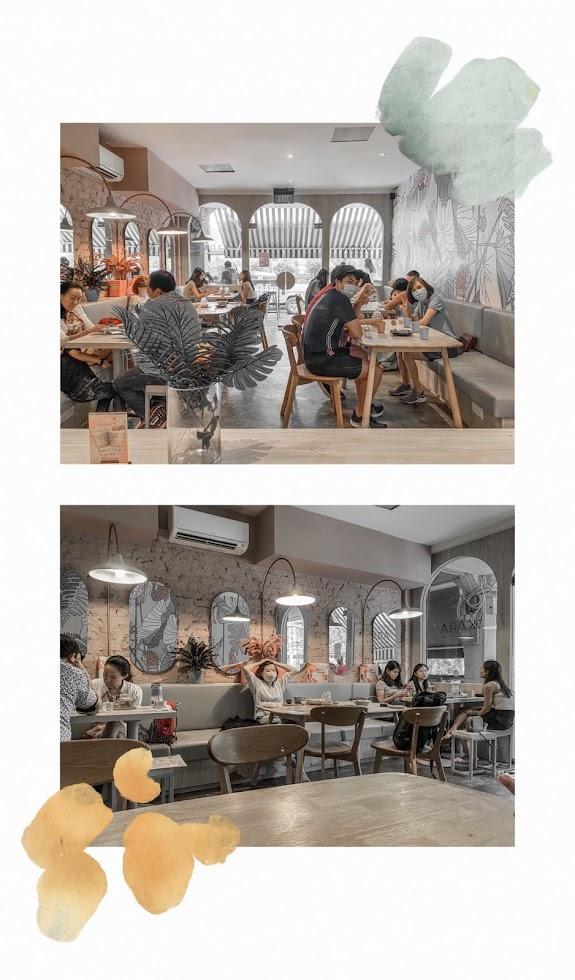 kara cafe dessert and bar interior