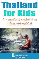 Learning about Thailand is fun and hands-on with these free crafts, ideas, and activities for kids! #Thailand #Thai #educational