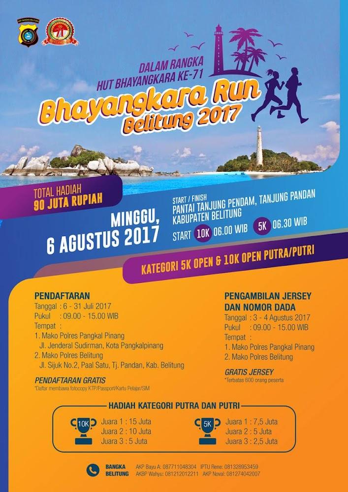 Bhayangkara Run - Belitung • 2017