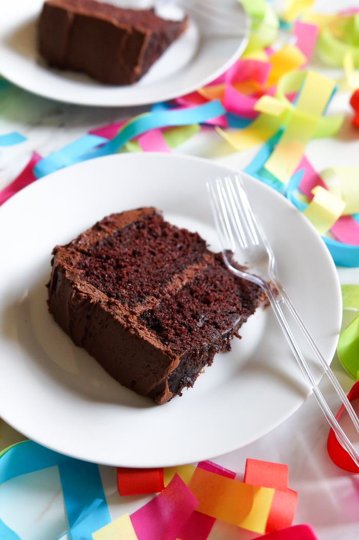 THIS IS IT! Our very favorite chocolate cake recipe...it's made with mayo and it's perfect!