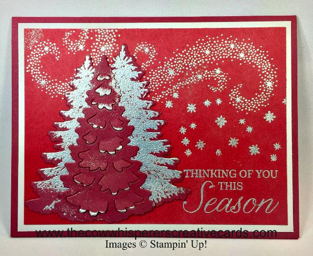 Card, Winter Woods, In the Woods Framelits, Star of Light