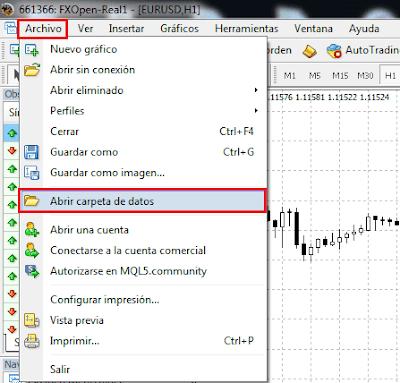 ¿Como instalar Expert Advisors, indicadores personalizados, plantillas y scripts en MT4?