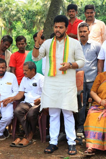 Ram Mohan Naidu Meeting with people poster