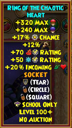 Wizard101 Level 120+ Gear - Mimic Skeleton Key Boss Drops