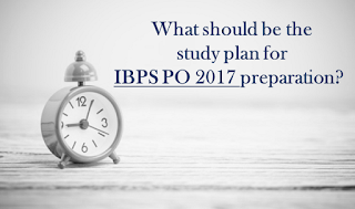 study plan for IBPS PO