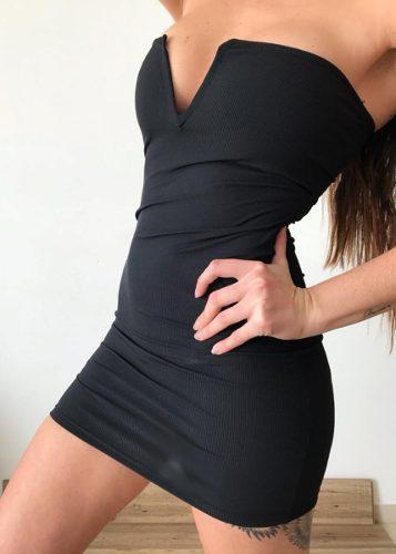 Vestido Strapless Corto Al Cuerpo M1819 2019 Vestidos