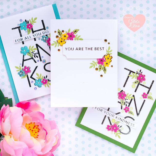 Thank You Glimmer Foiled Cards | Spellbinders May 2020 Glimmer Hot Foil Kit of the Month