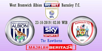 Prediksi West Bromwich Albion vs Barnsley — 23 Oktober 2019