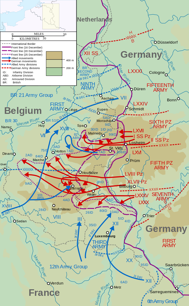 A history of the battle of the buldge the last german attack during world war 2