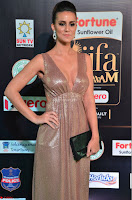 Lerisa Bonisa in a Sleeveless Deep neck Golden Gown ~  Exclusive 023.JPG
