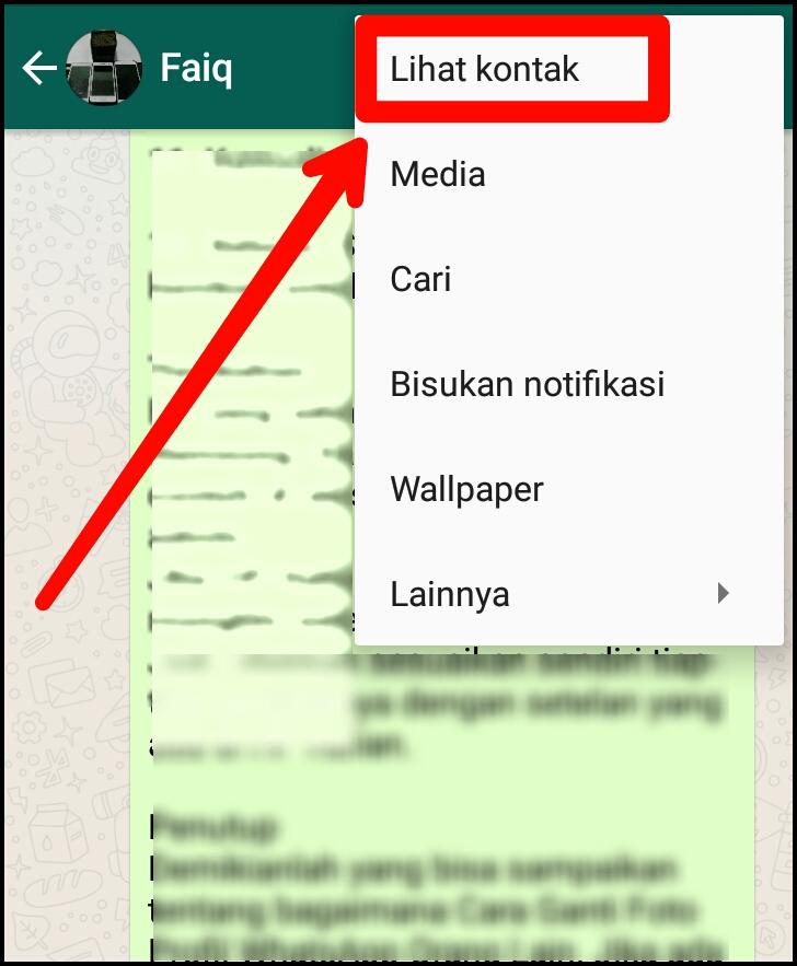 Cara Ganti Foto Profil WhatsApp Orang Lain di HP Kita - CARA UHUY