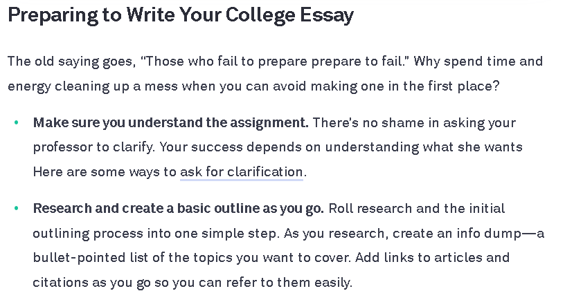 Write scientific example to essay how a