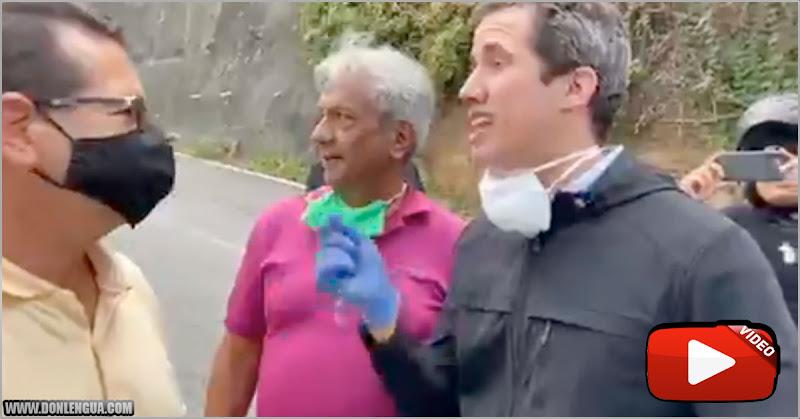Juan Guaidó envía mensaje mientras hace la cola para la gasolina