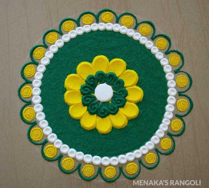 creative and simple rangoli design