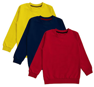 minicult Cotton Kids Sweatshirts with Round Neck and Ribbed Full Sleeves for Light Winters