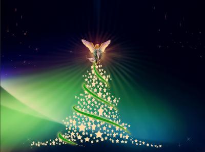 Angel na arvore de natal