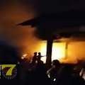 3 Buah Kios Pasar Kaponan Ludes Terbakar Beserta Isinya