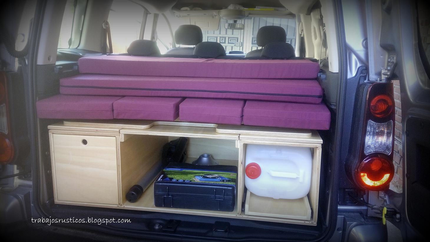 trabajos r sticos modulo camper citroen berlingo multiespace. Black Bedroom Furniture Sets. Home Design Ideas