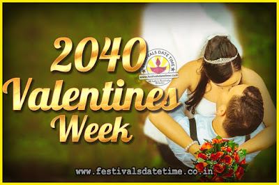 2040 Valentine Week List : 2040 Valentine Week Schedule, Hug Day, Kiss Day, Valentine's Day 2040