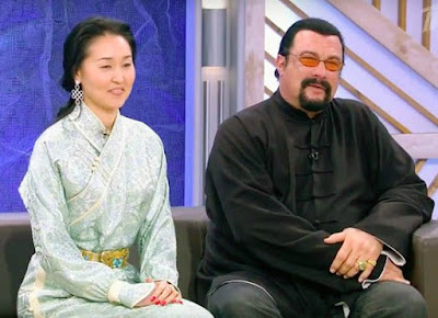 Kentaro Seagal's parents sitting together