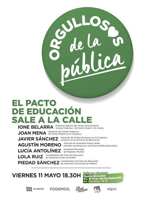 Las Áreas de Educación de IU Madrid y de Podemos Comunidad de Madrid nos  envía  esta convocatoria  f68a18b189e52