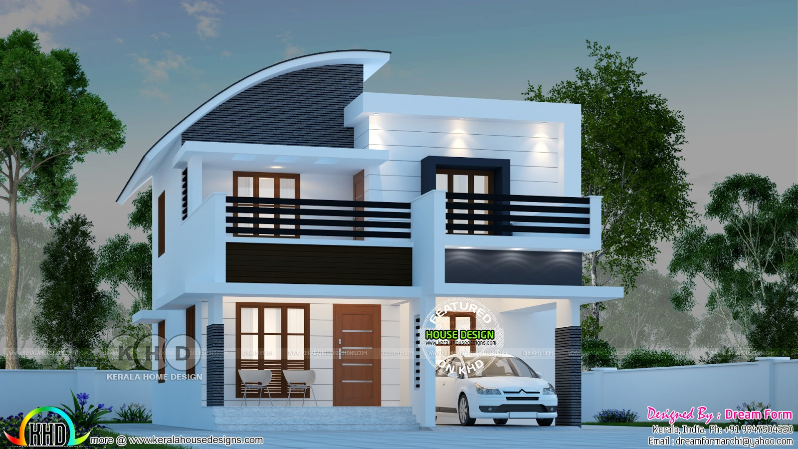 Superb Modern 1600 Sq Ft 3 Bedroom Home Kerala Home Design And Floor Plans 8000 Houses