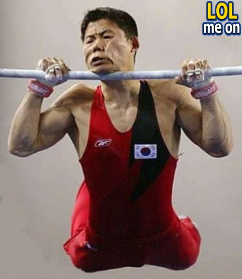 "funny sport picture shows a poor athlete from ""LOL me on"""