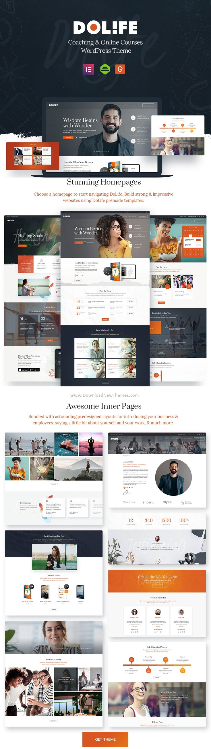 Coaching and Online Courses WordPress Theme