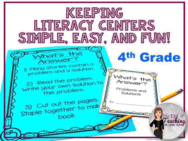 no prep 4th grade literacy centers