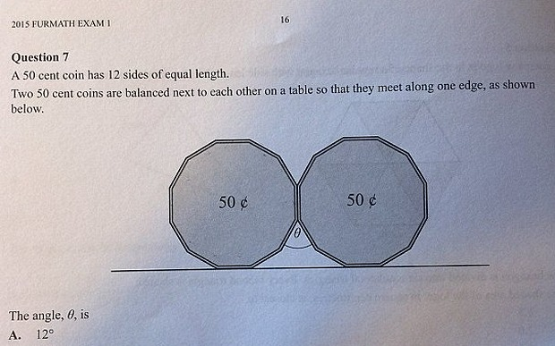 The 50 cent exam question