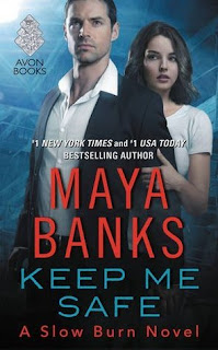 romance novel cover, romantic suspense, Keep Me Safe by Maya Banks