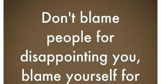 Self-Blame vs Disappointment