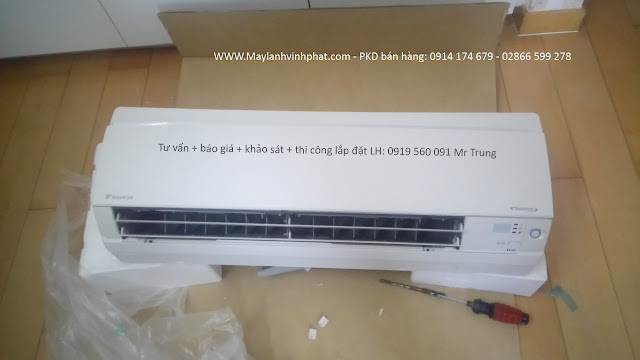 Bán giá xưởng Máy lạnh treo tường Daikin FTKC25TVMV/RKC25TVMV Inverter siêu rẻ - bán giá đại lý rẻ