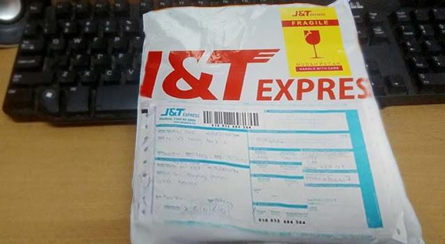 Bungkusan J&T Express sudah sampai