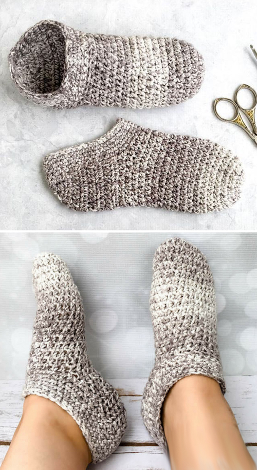 Cotton Slipper Socks - Free Crochet Pattern