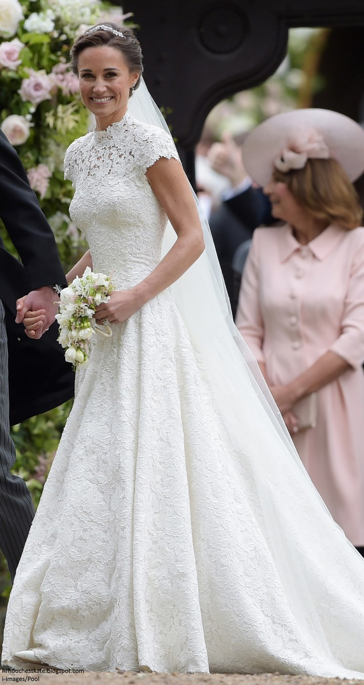 Duchess kate radiant bride pippa middleton marries james for Wedding dress like pippa middleton