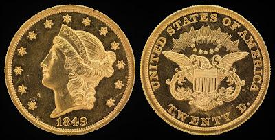 Moneda de 1849 Estatua de la Libertad