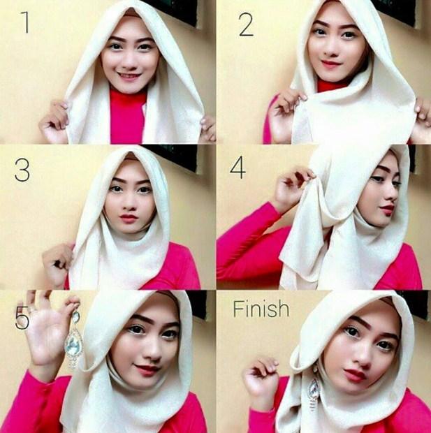model hijab segi empat style 2