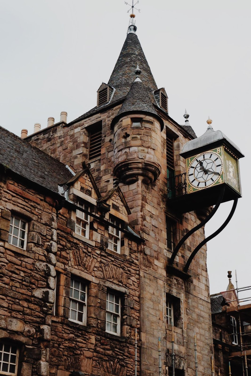 The Tolbooth building with clock tower which houses the People's Story Museum
