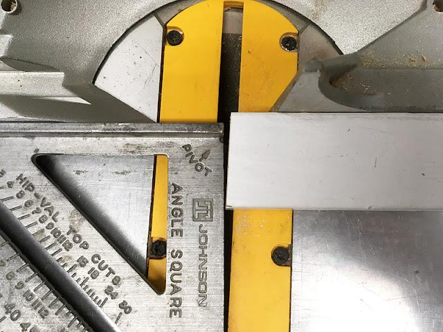 chopsaw porch railing repair miter cut