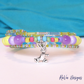 rava design rabbit charm bracelets spring holiday design pattern ideas
