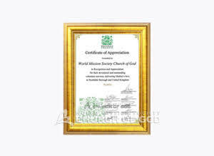 Rochdale City council Certificate of appreciation