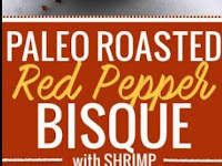 Paleo Roasted Red Pepper Bisque