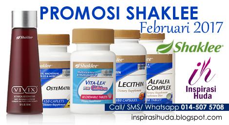 promosi, shaklee, februari, 2017, ostematrix, vitalea for children, lecithin, alfalfa, vivix, inspirasihuda,